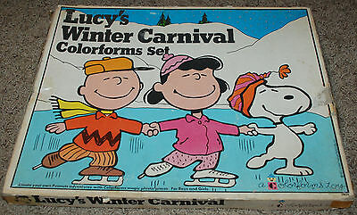 Original Vintage Lucy's Winter Carnival Colorforms Set Peanuts 1972