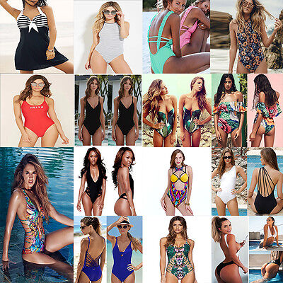 Women's One Piece Push Up Padded Bikini Swimsuit Swimwear Bathing Monokini