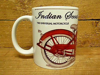 300ml COFFEE MUG, INDIAN SCOUT, THE UNIVERSAL MOTORCYCLE