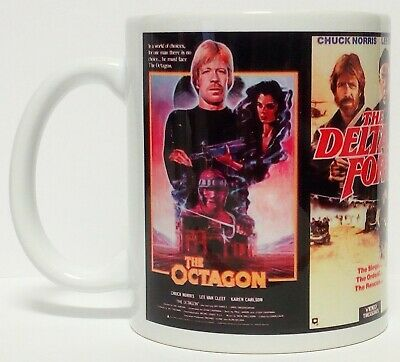 300ml COFFEE MUG, CHUCK NORRIS! THE OCTAGON, DELTA FORCE, LONE WOLF MCQUADE, MIA