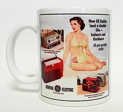 300ml COFFEE MUG, GE RADIOS, INDOORS AND OUTDOORS, ALL YEAR ROUND PORTABLES