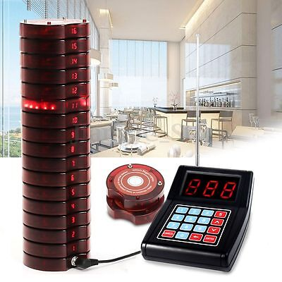 US 10 Restaurant Coaster Pager Guest Call Wireless Paging Queuing Calling System