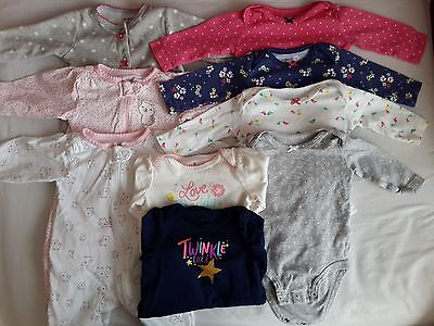 baby girl clothes, 0-3months used 14 piece