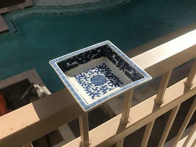 Antique Chinese Blue White Porcelain Tray/Dish.