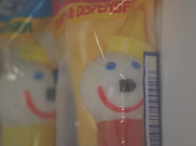 Pez Dispenser Jack in the Box Red Yellow Blue New in Package
