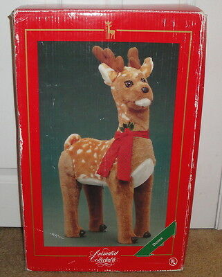 ANIMATED COLLECTABLE 2ft REINDEER DASHER 1993 Doll Santa's Best Christmas Deer