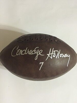 Condredge Holloway Signed Football w/photo Proof & COA Tennessee Vols