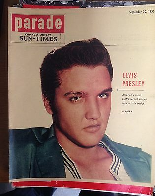 Elvis Presley Parade Magazine 1956 Cover Story 6 Page Article 8 Pics Vf