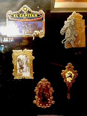 BEAUTY & THE BEAST Disney DSF DSSH MARQUEE Belle Library Cameo Rose Mirror Pin