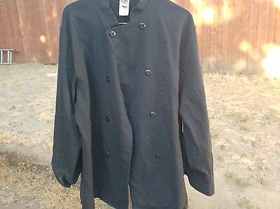 Chef Coats 2 Black size 2XL $12.00 for Both Chef Coats