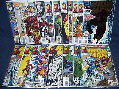 The Invincible Iron Man #292 - #311  with Bag and Board