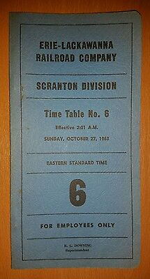 1963 Erie Lackawanna Railway Company Employee Timetable No.6
