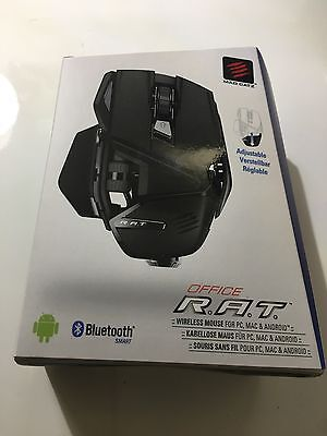 Mad Catz Office R.A.T. Wireless Bluetooth Mouse for PC and Android - Matte Black