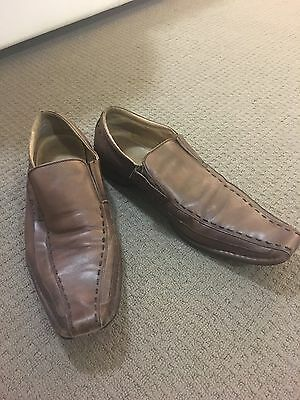 Men's Leather Brown Shoes - Size 12