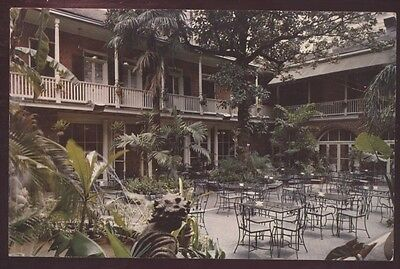 Brennans Patio French New Orleans Vieux  Louisiana Restaurant Postcard