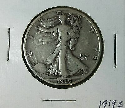 1919S Silver Walking Liberty Half Dollar with Free Shipping & Insurance
