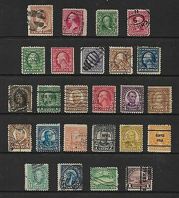 USA - mixed early collection, 1882-1922, incl perfins