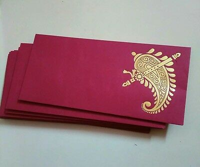 25 Paper Cash Gifting Red Envelopes for Money Check Gifts Festival Ocassions