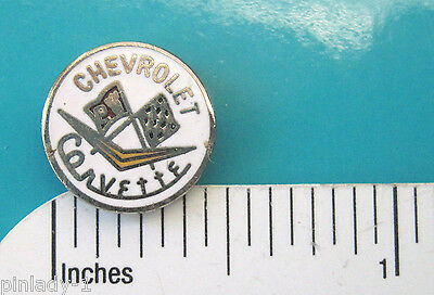 "CHEVY CORVETTE  logo ""mini-pin"" - hat pin ,  lapel pin , TIE TAC  (w) GIFT BOXED"