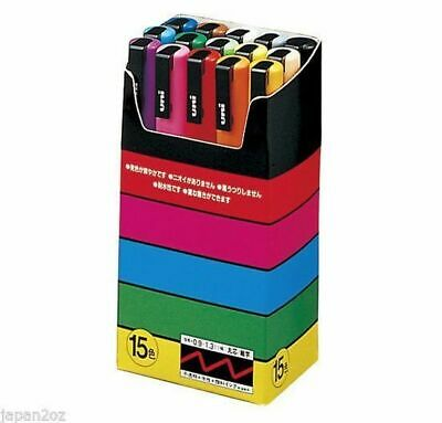 8/15 UNI POSCA PENS PC-3M 0.9-1.5mm 8 & 15 Color Paint Markers Made in Japan