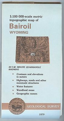 US Geological Survey topographic map metric Wyoming BAIROIL 1979