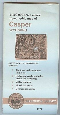 US Geological Survey topographic map metric Wyoming CASPER 1979