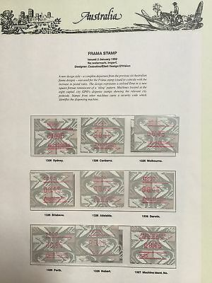 Australia 1992 Frama Emu Set Seven Seas Hingeless Pages 9 Muh Stamps