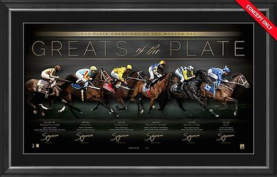 GREATS OF THE PLATE – COX PLATE CHAMPIONS Signed Horse Racing Winx Kingston Town