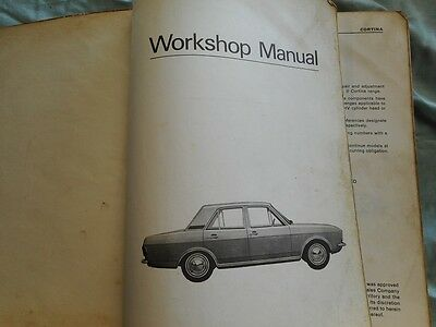 Vintage Ford Cortina 1967 car manual