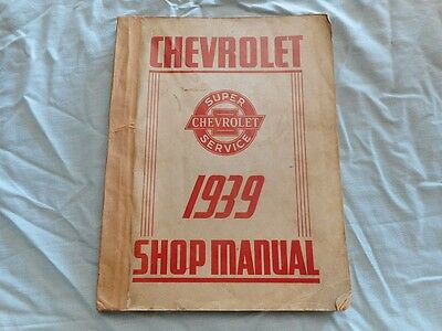 Vintage Chevrolet 1939 car shop manual Chev workshop