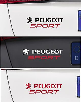 For Peugeot - 'PEUGEOT SPORT' CAR DECAL STICKER  - 195mm x 40mm