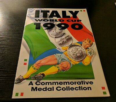 Italia 90 world cup commemorative medal collection (Missing 2 medals)