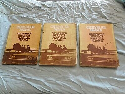 Vintage Chrysler Sigma GE Series Service Car Manual 1977
