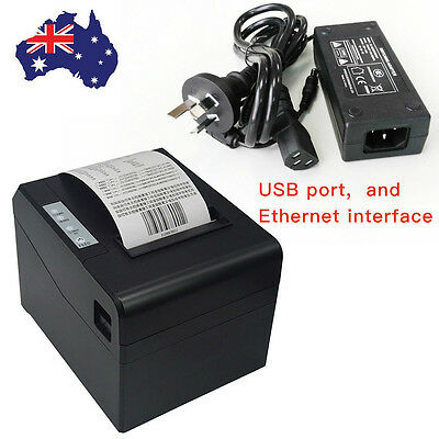 300mm/s High Speed USB Thermal Line Receipt Printer ESC/POS Roll Paper Sale New