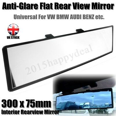 300mm Car Panoramic Wide Curve Interior Rear View Mirror Clip On Oversize Large