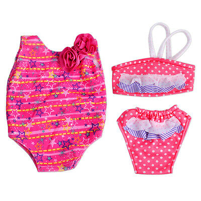 2 Set Doll Clothes Swimwear Bathing Suit Bikini fit 18 Inch American Girl Doll