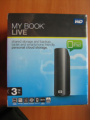 Disque Dur HDD Externe WD My Book Live 3 To Tb  Personal Cloud Storage Drive