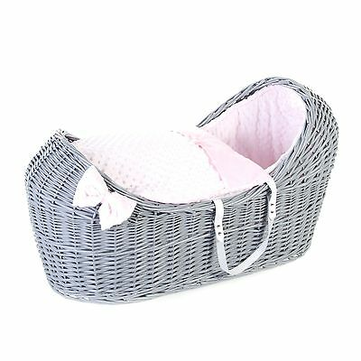 Dressings And Mattress Only For Wicker Pod Moses Basket Soft Fleece 3 Colours