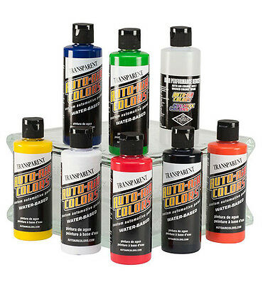 Auto Air Colors Airbrush Paints - 8 x 120mlTransparent Airbrush Paint Set