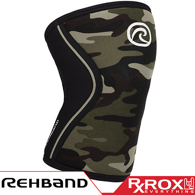 Rehband RX Line Knee Support | 7mm | Camo | CrossFit