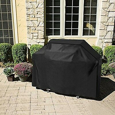 """Homitt Gas Grill Cover 58"""" 600D Heavy Duty Waterproof BBQ Grill Cover Black New"""