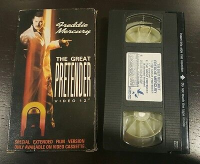 "freddie mercury vhs singola ""the great pretender"" rara"