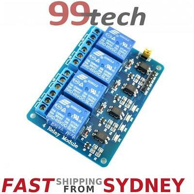 Relay Module, 4 Channels, LEDs, 5V 10A Opto Isolated, Arduino, eParcel Sydney