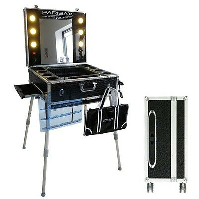 Valise maquillage trolley professionnelle Croco Noir Parisax
