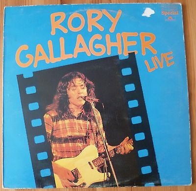 "Rory Gallagher Live Original 12"" Vinyl LP Record Album 2384079 VG/G"