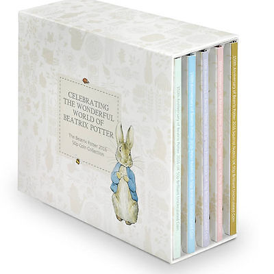 Royal Mint 150th Anniversary Beatrix Potter 2016 UK 50p Five Coin Set-UK16BPBS