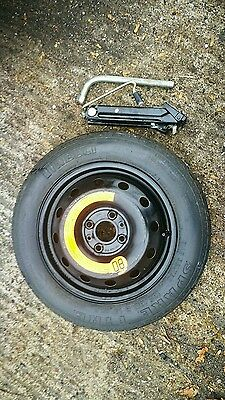 """Ford Ka 2009-2017 Space Saver 14"""" Spare Wheel & Tyre,Jack And Spanner Kit"""