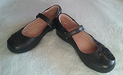 Next girls black school shoes size 5