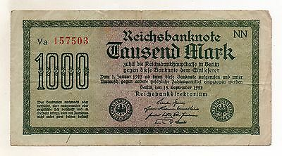 Germany 1000 Mark 1922 (red serial Nr)