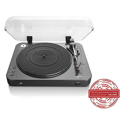 Lenco L-85 2 Rated Speed Turntable with USB Direct Recording in Black New